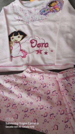 Pijama niña Dora invierno nueva