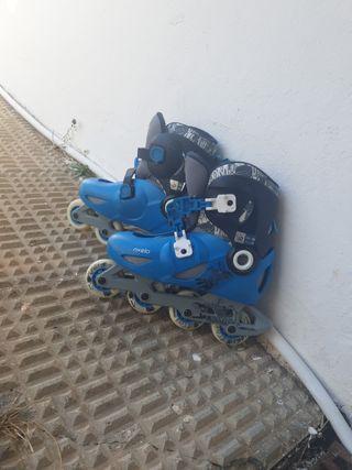 patines de línea.