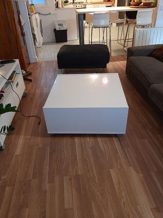 mesa centro Ikea Blanca ruedas