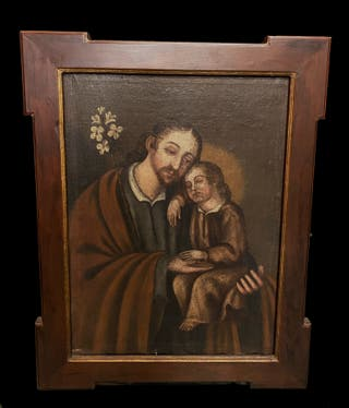 San José con el niño Jesús. Siglo XVII.