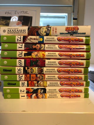 pack de mangas (naruto, one piece, death note...)