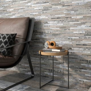 Mosaico hawai efecto madera multicolor ceramica