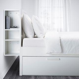 Estructura de cama+cabecero+somier de láminas