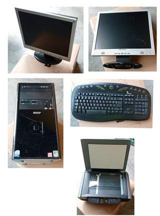 ordenador completo en funcionamiento
