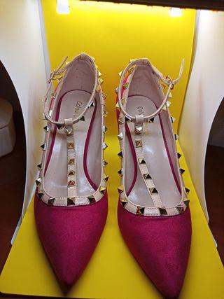Zapatos nuevos Fucsia