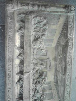 cuadro metal antiguo santaa cena