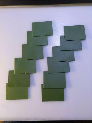 12 BASES de 6X4 cm WARHAMMER/ESDLA