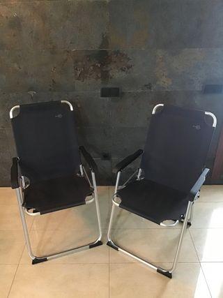 2 sillas plegables en venta