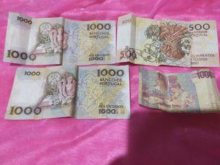 billetes antiguos de Portugal