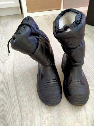botas nieve, descansos. invierno