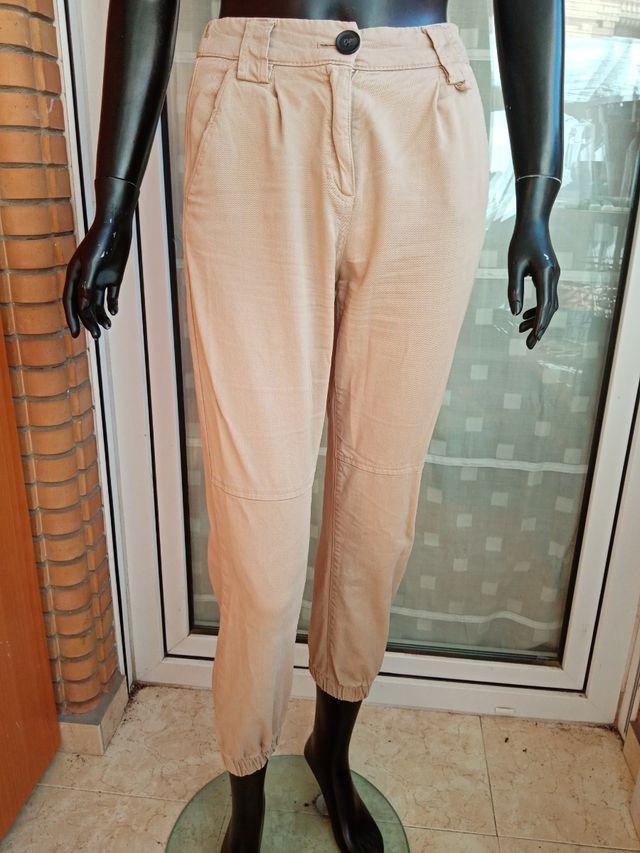Pantalon Tipo Safari Con Cintura Elastica Talla S De Segunda Mano Por 6 En Almeria En Wallapop