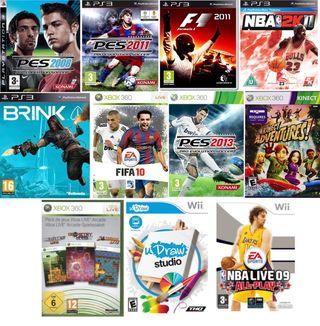 11 VIDEOJUEGOS XBOX 360, WII Y PS3