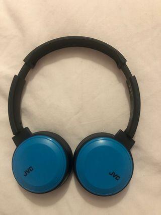 Auriculares On-Ear, Inalámbrico, Negro y Azul JVC