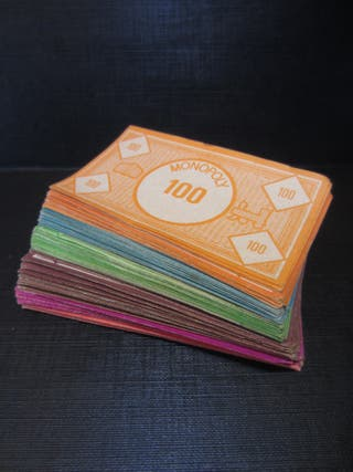 Billetes de Monopoly Antiguo (Piezas y Repuestos)