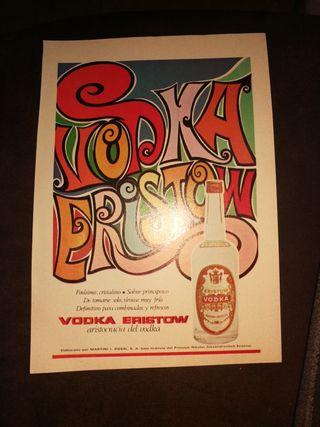 VODKA ERISTOW 1969,PUBLICIDAD RETRO.