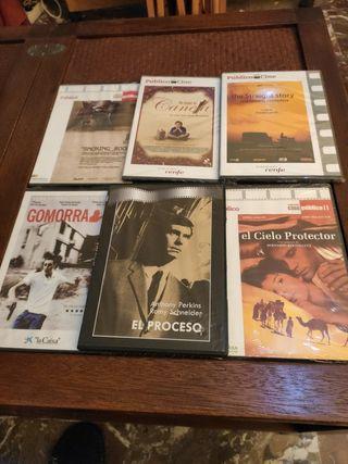 6 DVD Slim lote títulos de la foto