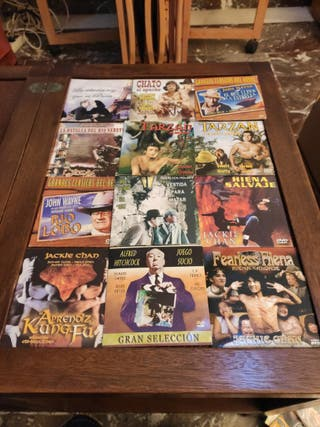 lote 12 DVD de cartón títulos de la foto