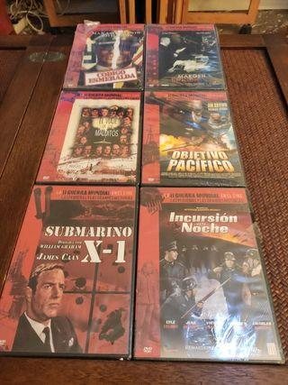 6 películas bélicas DVD precintadas Slim