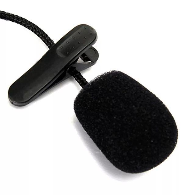 Mini micrófono clip nailon trenzado 119cm3,5mm