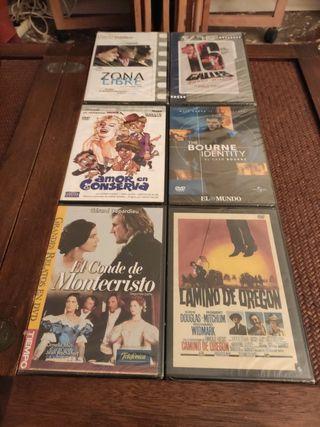 lote 6 películas DVD Slim