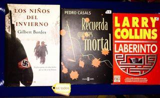 Lote de tres libros de novela negra 6€ todos Envío