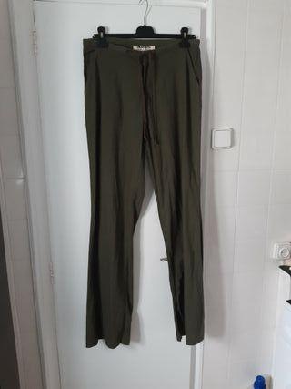pantalon lino desigual
