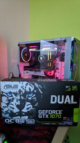 ASUS DUAL GeForce GTX1070 OC 8Gb GDDR5.