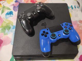 Playstation 4 Slim 1tb +3 juegos +2 mandos