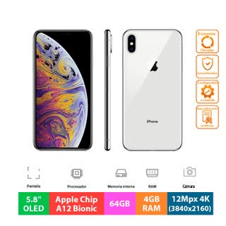 "Apple IPhone XS - 64GB - 5.8"" OLED - Plata"