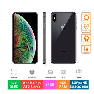"Apple IPhone XS - 64GB - 5.8"" OLED - Gris Espacial"