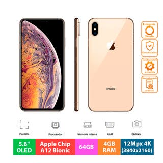 "Apple IPhone XS - 64GB - 5.8"" OLED - Oro"
