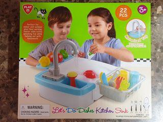 Fregadero eléctrico Juguete Grifo con agua PlayGo