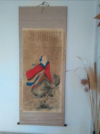 Pergamino representando al filosofo chino Lao Tse