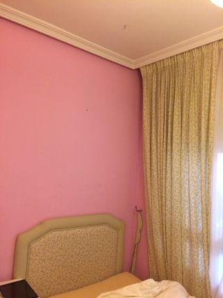 Cabecero tapizado(cama 90) más cortinas