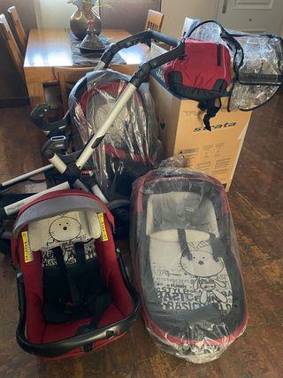 Carrito bebe jane Rider 3piezas completo