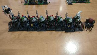 8 x Arañas Goblins Silvanos Warhammer