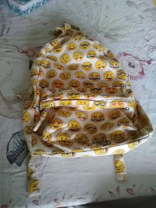 mochila escolar de tela emogis