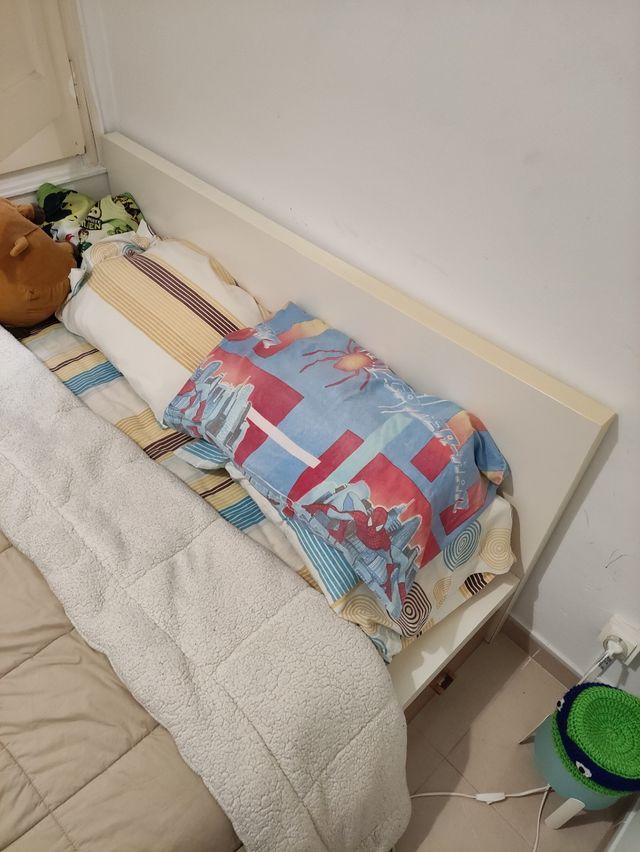 Cama doble cabecera (matrimonial) + colchón IKEA