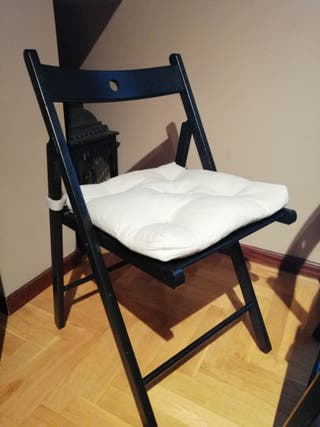 6 Sillas plegables Ikea incluye cojines