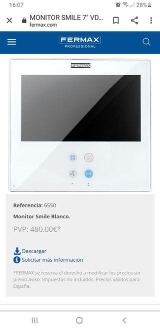 se vende solo la pantalla Fermax videoportero