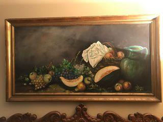 Cuadro bodegón pintado al óleo
