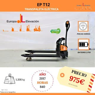 TRANSPALETA ELÉCTRICA 1.200KG EP