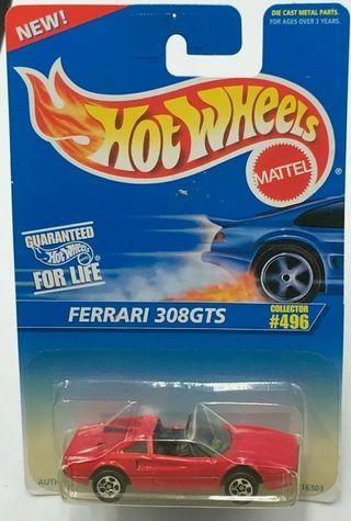 Hot Wheels Ferrari 308 gts rojo