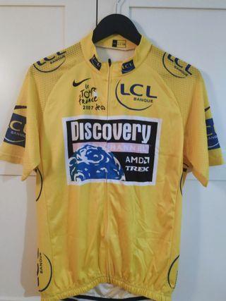 Maillot amarillo ciclismo Tour 2007 Contador