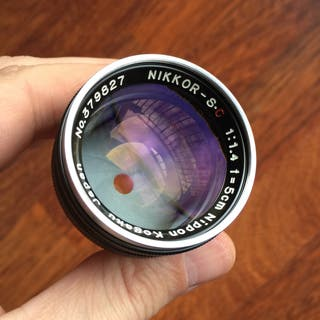 Nippon Kogaku 5cm 1.4 negro montura Nikon S