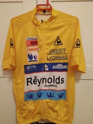 Maillot amarillo Perico Delgado Tour-88 Reynolds