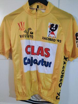 Maillot amarillo ciclismo Vuelta 92 Tony Rominger