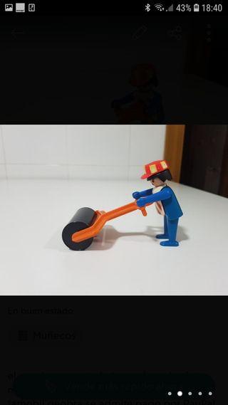apisonadora geobra albañil playmobil