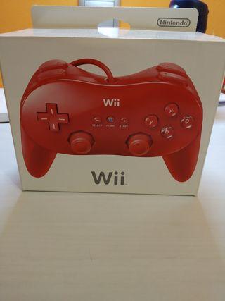 Mando clásico pro Wii color rojo