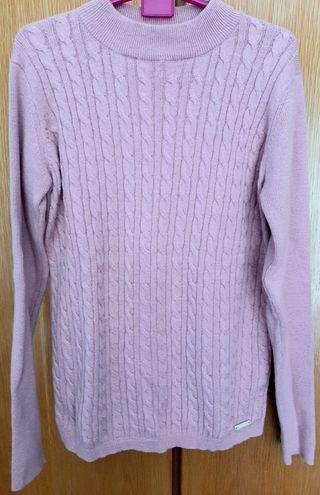 Suéter niña rosa palo.Talla12. Cóndor.